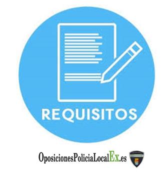 requisitos oposiciones de la policía local de extremadura